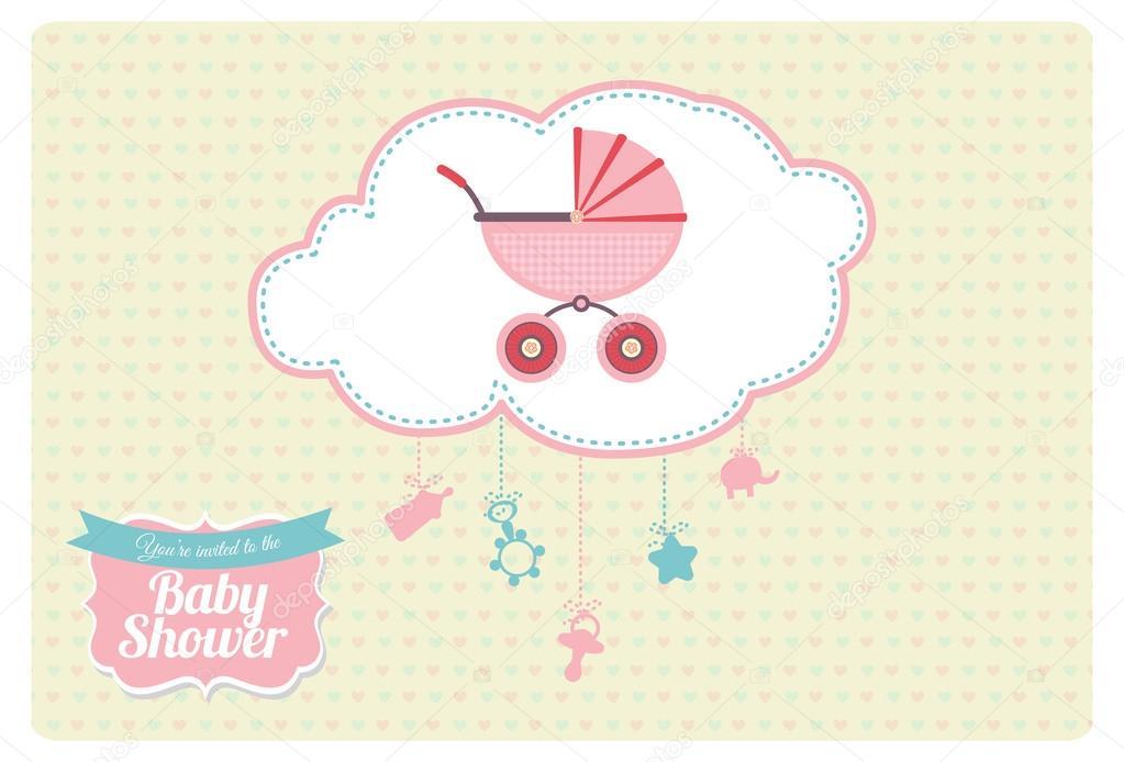 Invitacion Baby Shower Para Modificar Diseño De Tarjeta De