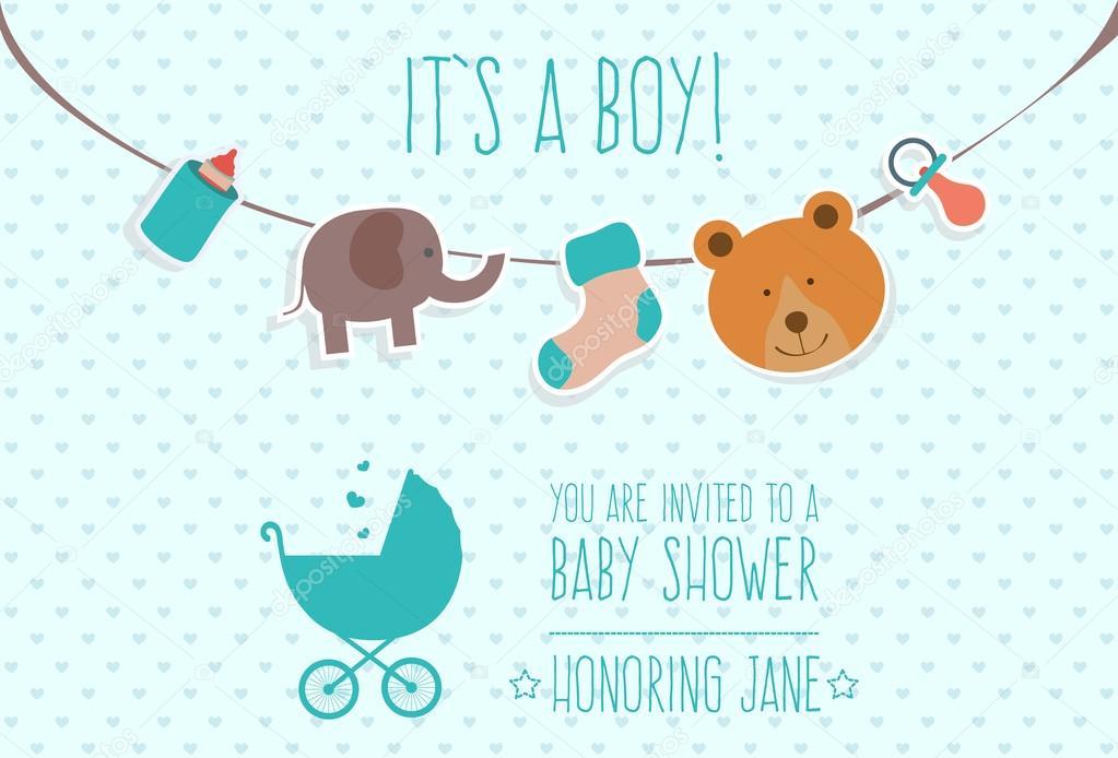 Invitaciones Para Baby Shower Niño Para Modificar Diseño De