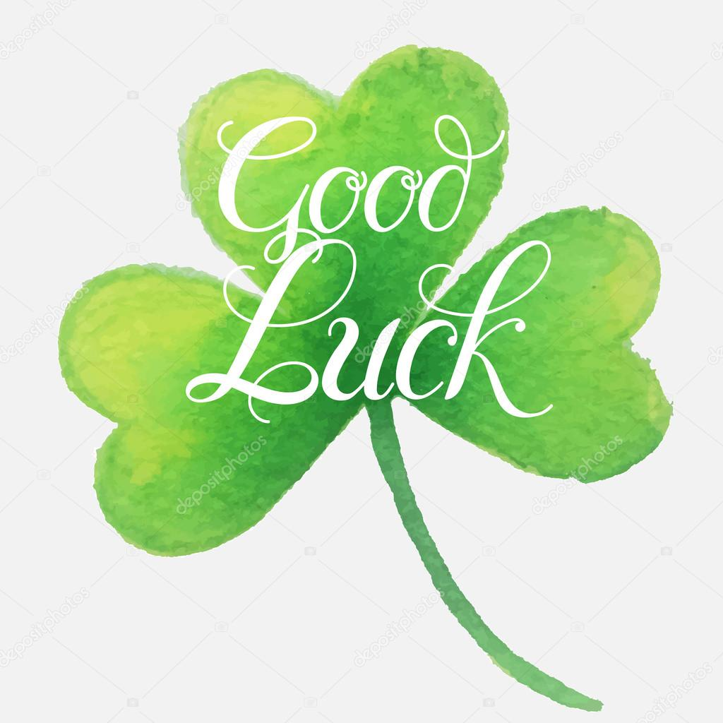 Good Luck Four Leaf Clover Stock Vector