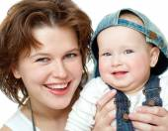 Fotografie Maminka a roztomilé dítě
