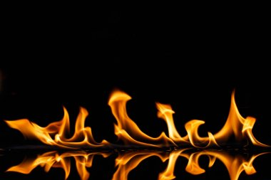 Flame burning hot detail isolated art