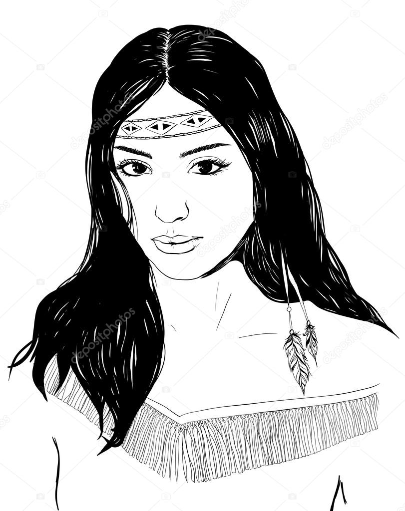 Рисованные девушки индейцы фото — img 8
