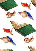 Fotografia Flying Books seamless pattern