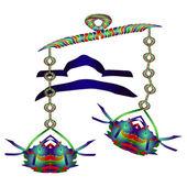 Horoscope Libra. Enamel jewelry style