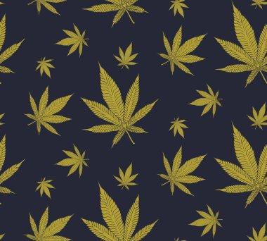 Cannabis Leaves seamless pattern