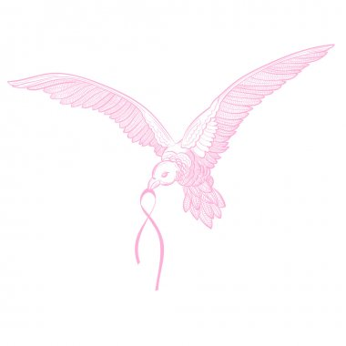 Flying Dove with Breast