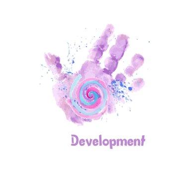 Watercolor Baby Hand print