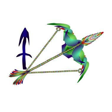 Sagittarius horoscope. Enamel jewelry style