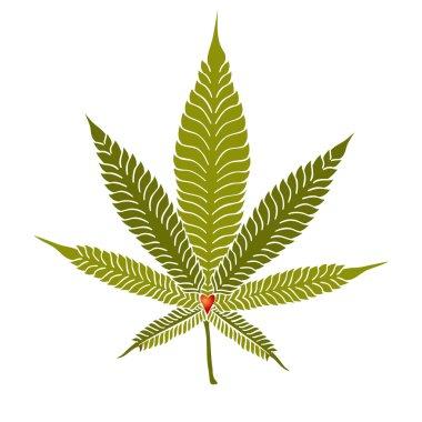 Elegant Cannabis Leaf
