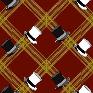Seamless Hats Pattern