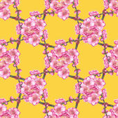Photo Cherry  blossom seamless pattern