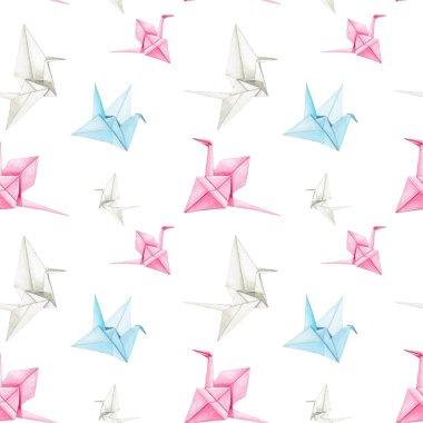 Origami Crane pattern.