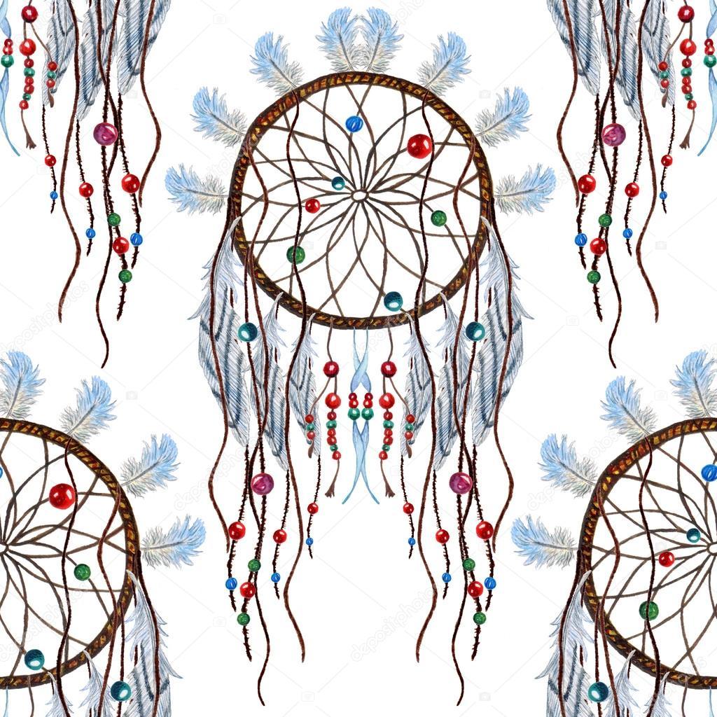 el cazador de sueños de patrones sin fisuras — Fotos de Stock ...