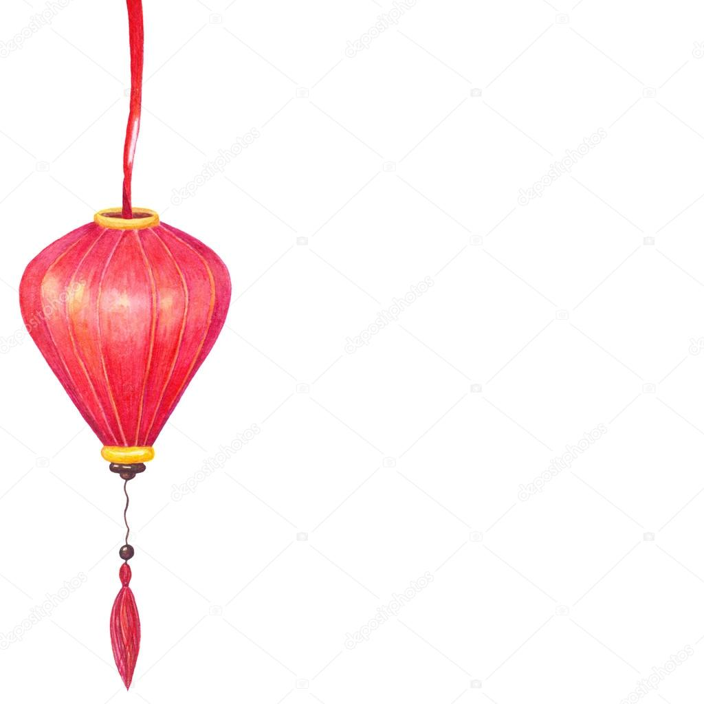 Chinese red lantern stock photo kois00kois 125228958 watercolor chinese red lantern isolated on white background symbol of luck harmony prosperity chinese new year good luck frame biocorpaavc Gallery