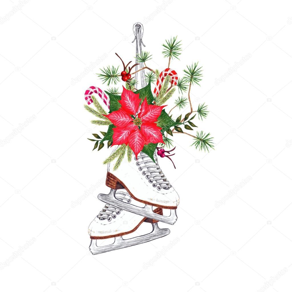 Decorated Ice Skates. — Stock Photo © kois00kois #125229676