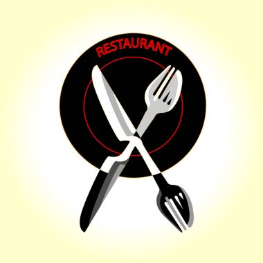 Restaurant for gourmets graphic design logo template, vintage insignia. icon