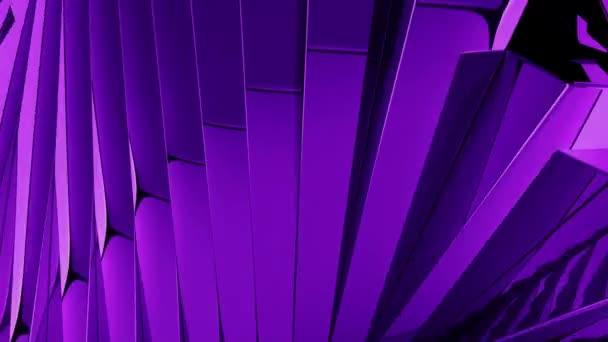 Loop pozadí s otáčení fialové skleněné kostky, 3d vykreslení
