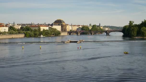 Pleasure boats on the  River Vitava, Prague