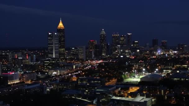 Interstate 85 passando skyline di Atlanta