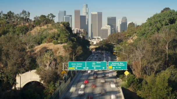 Pasadena Freeway leading into  Los Angeles