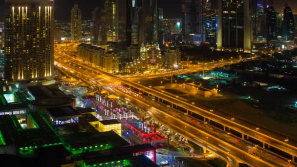 Dubai traffic and high rise buildings