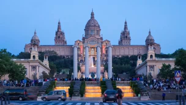 Fontány před národní muzeum umění, Barcelona