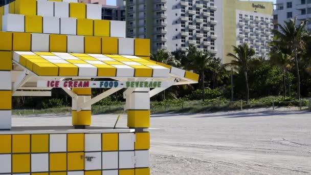 Ice cream hut on , Miami Beach