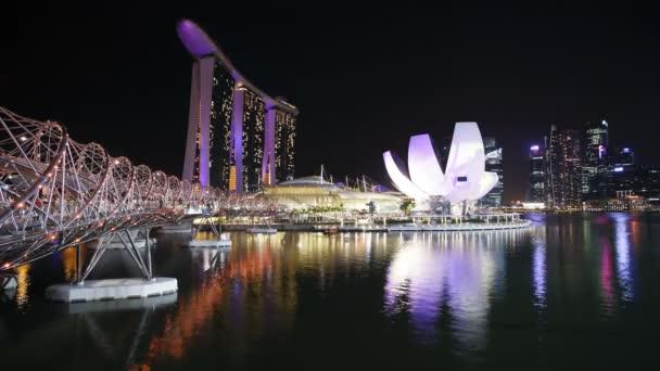 People on Helix Bridge, Singapore