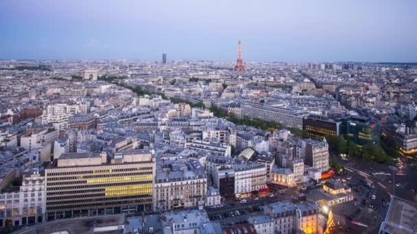 Arco di Trionfo e la Torre Eiffel, Parigi