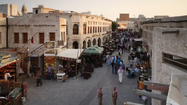The restored Souq Waqif with shops, Qatar