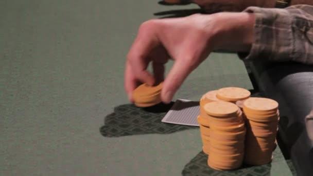 Gambler, uzavírání sázek na stole