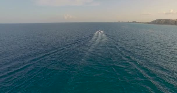 Boat floats on the ocean
