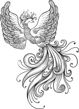 Firebird vector clipart