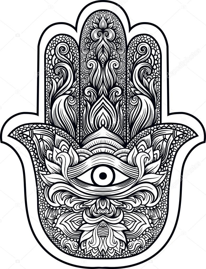 Hamsa Ou Main De Fatima Image Vectorielle Shik Shik 122446842