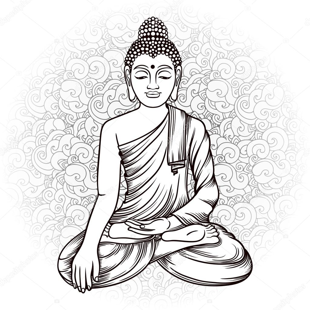 buddha vector illustration stock vector shik shik 122478204 rh depositphotos com buddha vector art buddha vector png