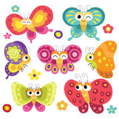 Fotografie Cute and Colorful Butterflies