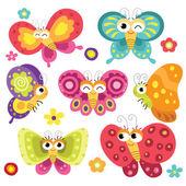 Fényképek Aranyos és színes pillangók