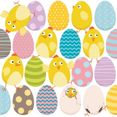 Easter Chicks and Sweet EasterEggs