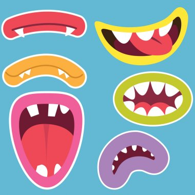 Cute Monsters Mouths Set