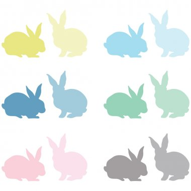 Bunny Silhouette Elements