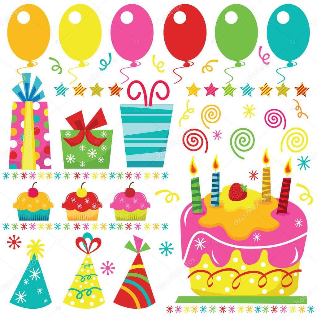 Verrassing Verjaardag Elementen Stockvector C Jason Lsy 108753542