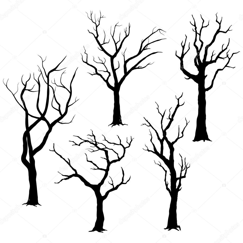 ᐈ Spooky Tree Silhouettes Stock Vectors Royalty Free Spooky Tree Silhouette Illustrations Download On Depositphotos