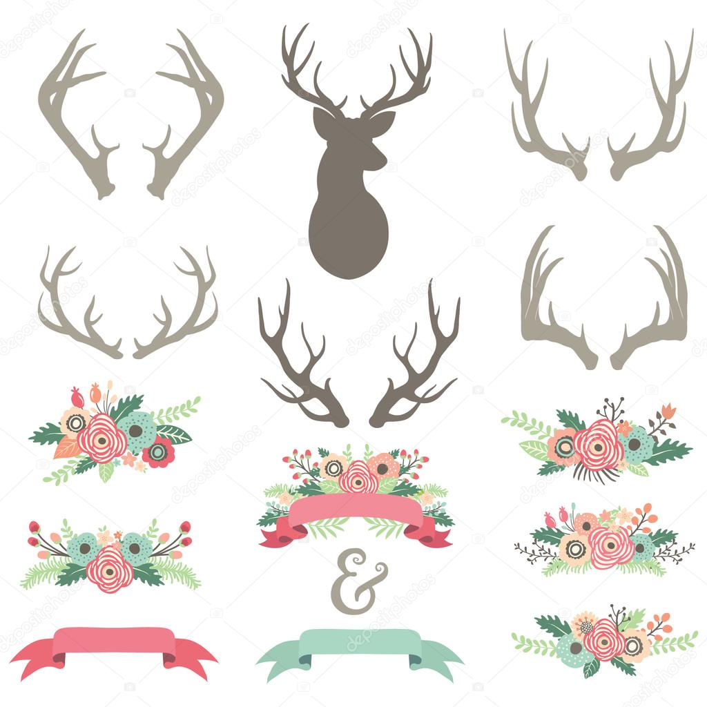 Wedding Flower Antlers Set