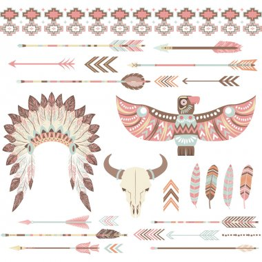 Tribal Indian Clip Art Collections