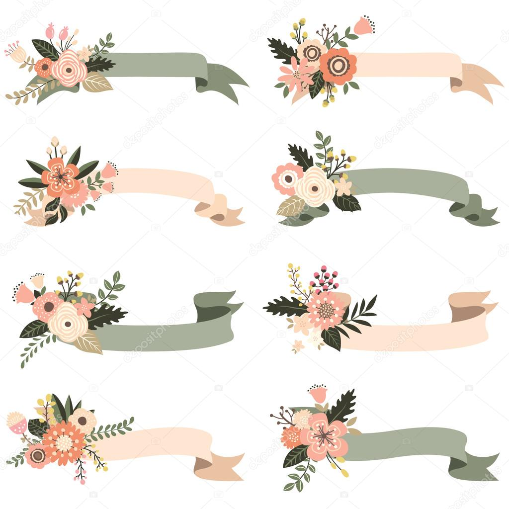 A Vector Illustration Of Rustic Floral Banners Elements By Jason Lsy