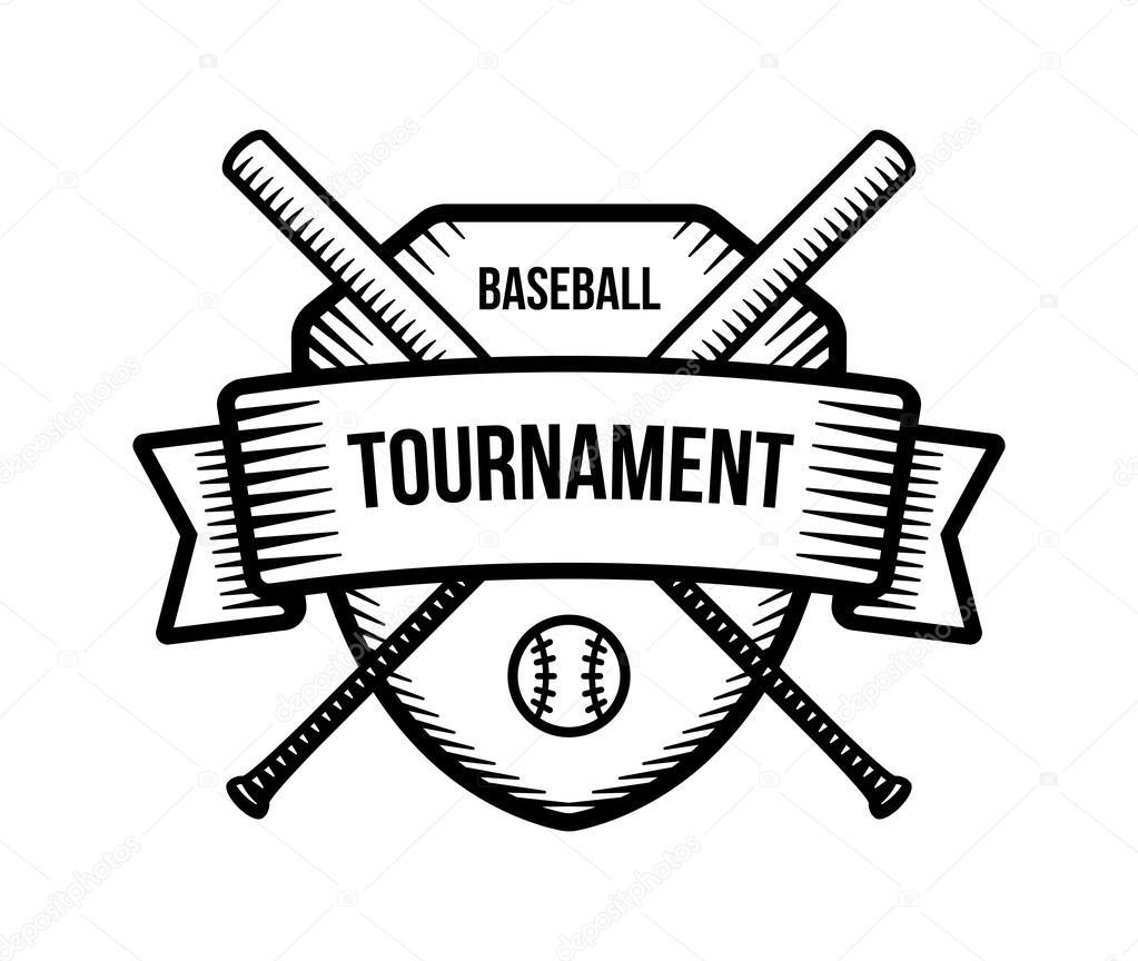 baseball summer sport team club shield bats logo tournament rh depositphotos com Baseball Clip Art Logo Pony Baseball Logo