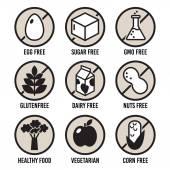 Fotografie Sada potravin dietní štítků