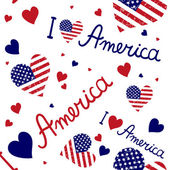 American flags pattern