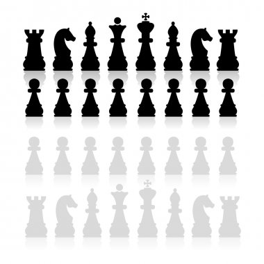 Chess pieces silhouette