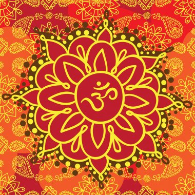 Indian background with om symbol.